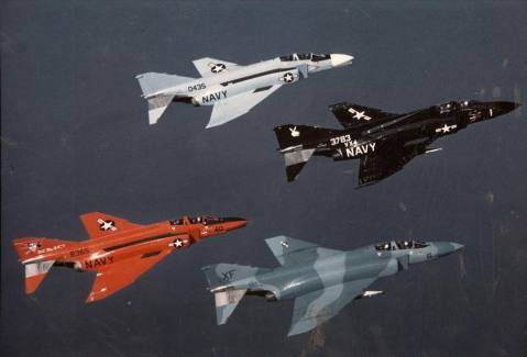 F-4 Phantom II from Air Test and Evaluation Squadron (VX) 4 and Naval Missile Center (NMC) China Lake, California 1975
