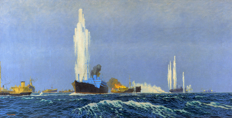 """""""Jervis Bay action"""" by Charles Pears"""