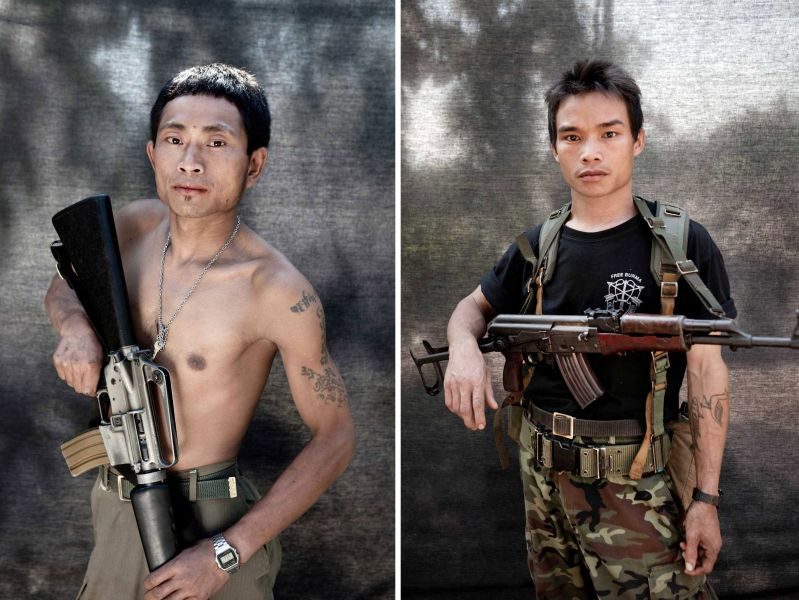 Photo by Jason Florio http://www.floriophoto.com/#/portraits/blackout%20portraits%20-%20burma/1/  The old M16A1 is great.