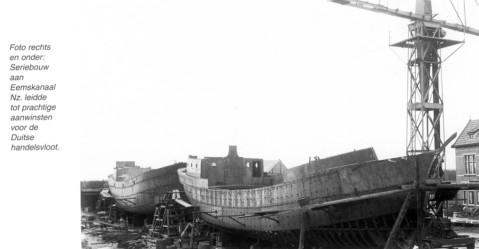 Sister hulls under construction in Holland 1932. F