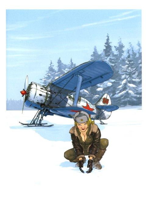 Russian Polikarpov I-153 Chaika (seagull) by Romain Hugault