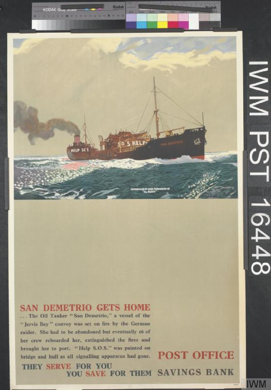 """""""San Demetrio gets home"""" By Charles Pears. Collection of the IWM"""