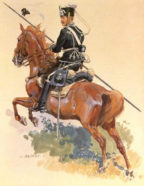 Unteroffizier, 2. Leib-Husaren-Regiment Königin Viktoria von Preussen Nr. 2 by Carl J Becker from the Anne S.K. Brown Military Collection
