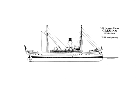 USRC Gresham as built. USCG Historians Office