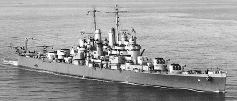 USS Cleveland CL-55 1942. The Navy wanted between 40-50 of these hardy little cruisers. They settled for much less, and nine of those became aircraft carriers while still under construction