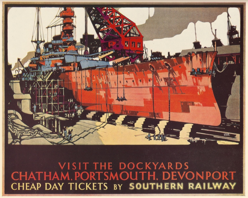Again, its a travel poster-- but you see the naval aspect clearly.