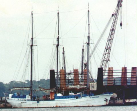 St Christopher of the Caymans at Fletchas shipyard before Hurricane Katrina