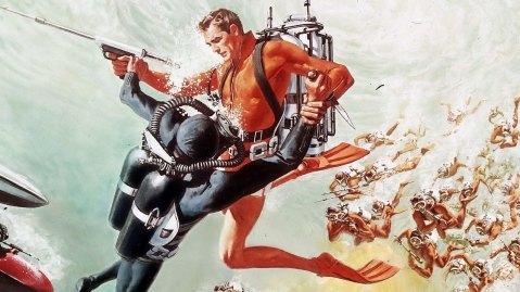 1965 Thunderball artwork By Robert McGinnis