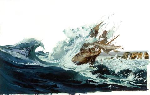 Spanish galleon By Robert McGinnis