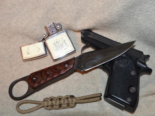 beretta 22 with zippo and custom knife