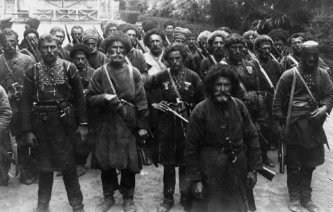 Georgian Khevsureti anarchists arriving to fight against Soviet Army,1921.