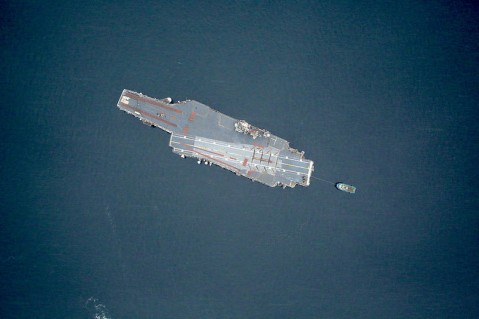 uss contellation on way to scrapping
