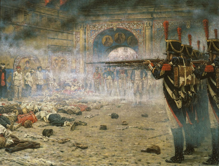 """""""The Arsonists. Executions in Moscow 1812,"""" by Vasili Verestchagin"""