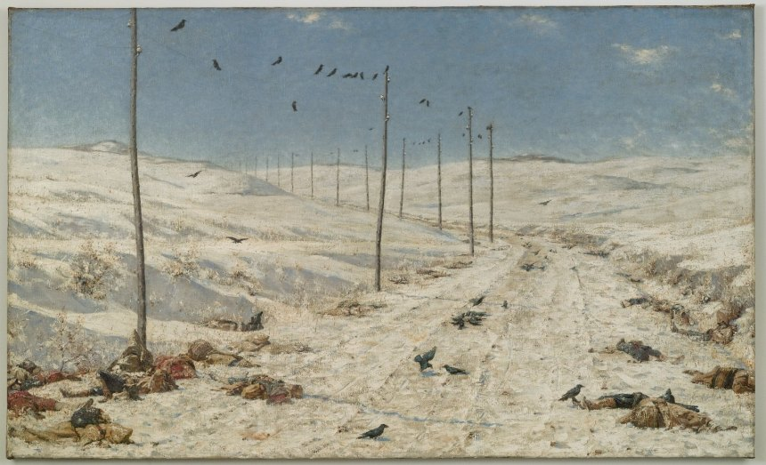 """""""The Road of the War Prisoners, 1878-1879,"""" portraying the route traveled by captured Turkish troops. By Vasili Verestchagin. Currently in the Brooklyn Museum."""