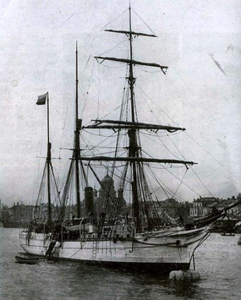 HMS Newport as Svyataya Anna in St Petersburg, 1912