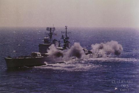 Almirante LaTorre live fire 1983