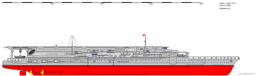 Kaga as completed, 1930. Photo from Shipbucket http://www.shipbucket.com/images.php?dir=Real%20Designs/Japan/CV%20Kaga%201930.png