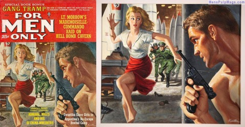 FOR MEN ONLY, March 1963, art by Mort Kunstler Rich Oberg Collection