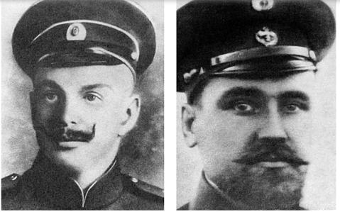 Georgy Brusilov and Valerian Albanov (left to right)
