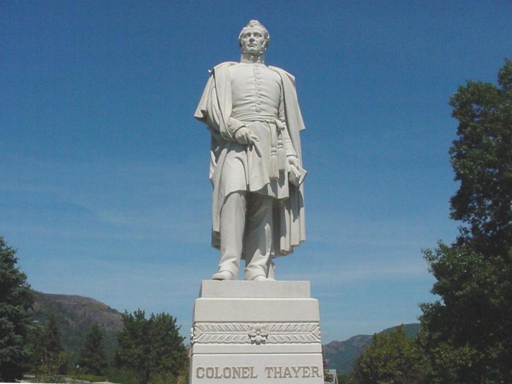 Col. Thayer's statue.