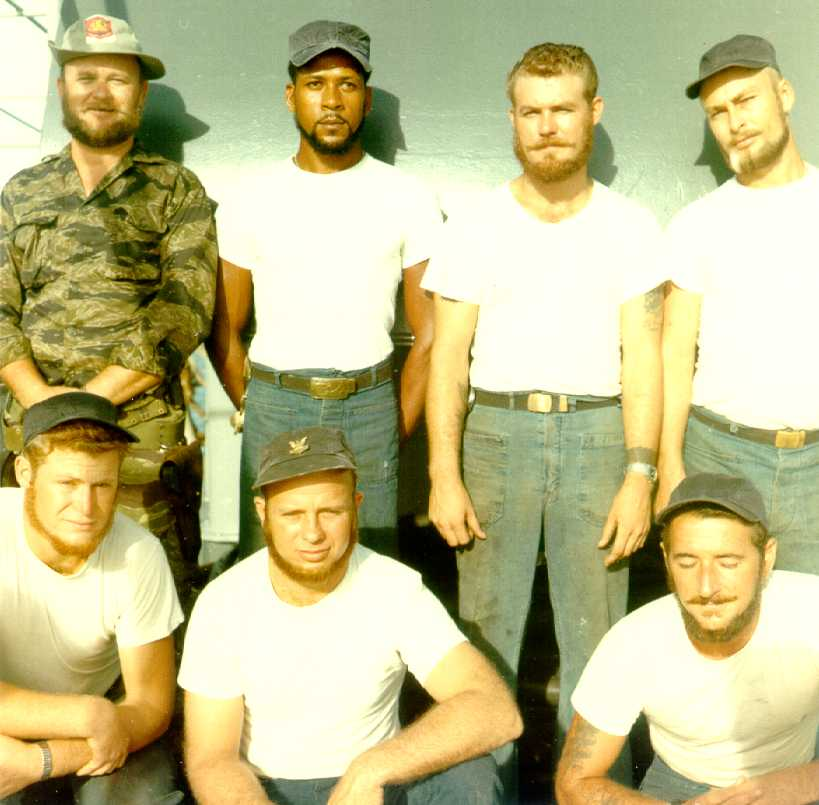 Beard growing contest by crewman of USCG 82-footer Division 11, An Thoi, by PHC Frank Borzage, 1965