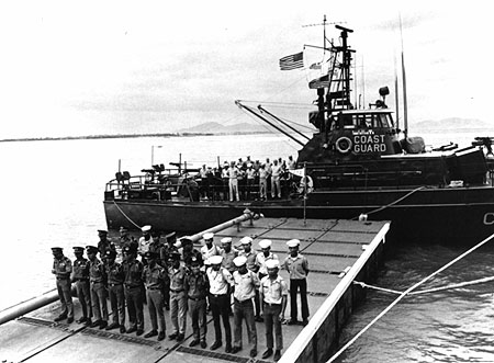 Coast Guard Division 12 of CGS1 being decommissioned and her ships turned over to the short-lived use of the South Vietnamese navy