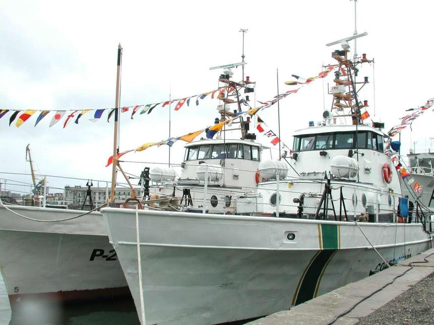 Two former Coast Guard Points, Point Countess and Point Baker, on transfer to the Georgian Coast Guard