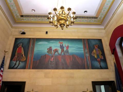 Joseph Hirsch mural, Philly City Courtroom C, Family Court Photo: Plan Philly.com