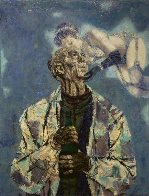 """""""Man With Sprite"""" by Joseph Hirsch"""