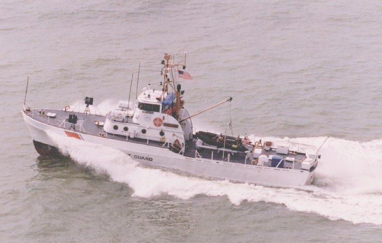 Point class cutter as they appeared in the 1980s. Note the two 50s forward and the new racing stripes