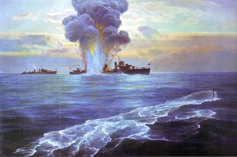 The sinking of the HMS Vittoria