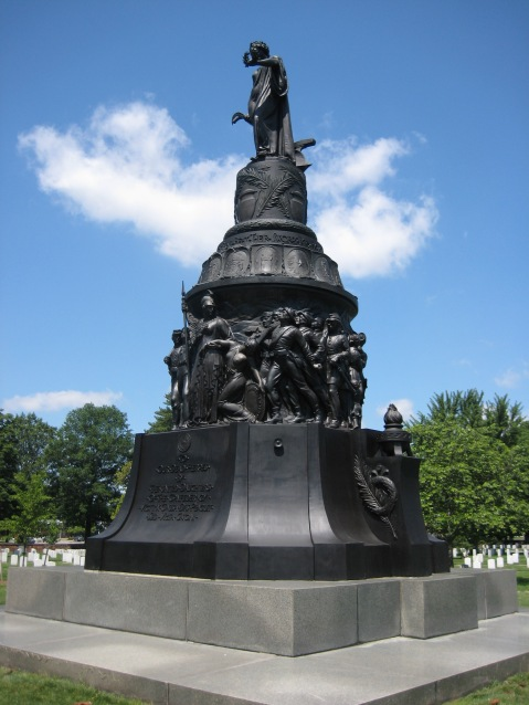 Confederate Memorial in Arlington National Cemetery, perhaps Ezekiel's most famous work, although controversial today for its inclusion of several depictions of African American confederate soldiers http://scvcalifornia.blogspot.com/2008/07/black-confederates-southern-fantasy-or_20.html