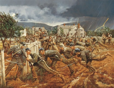 Battle of New Market., by Keith Rocco. Ezekiel was a teenage cadet on that field.