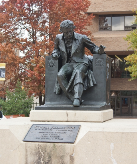 His last work completed was the Statue of Edgar Allan Poe (1917), currently at the University of Baltimore. It should be remembered that Poe grew up as a poor kid in Richmond, a soldier, and, briefly, a cadet at the USMA.