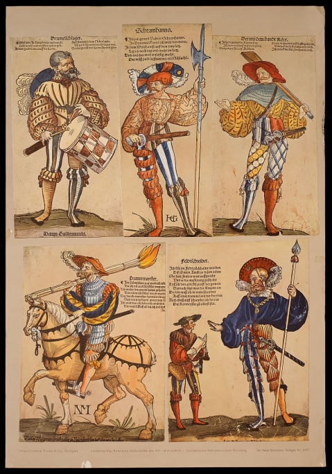 Medieval/Renaissance Swiss mercenaries. They may have dressed like Liberace, but they could fight