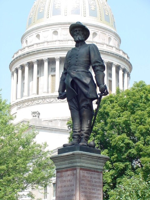 Statue of Stonewall Jackson (1910) by Moses Jacob Ezekiel, West Virginia State Capitol, Charleston, West Virginia.