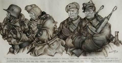 1944, Warriors-of-the-Polish-1st-Division-Tadeusz-Kosciuszko-by-Arthur-Szyk