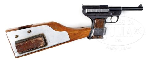 DANISH M1907 SCHOUBOE, with shoulder stock. http://jamesdjulia.com/item/1304-369/