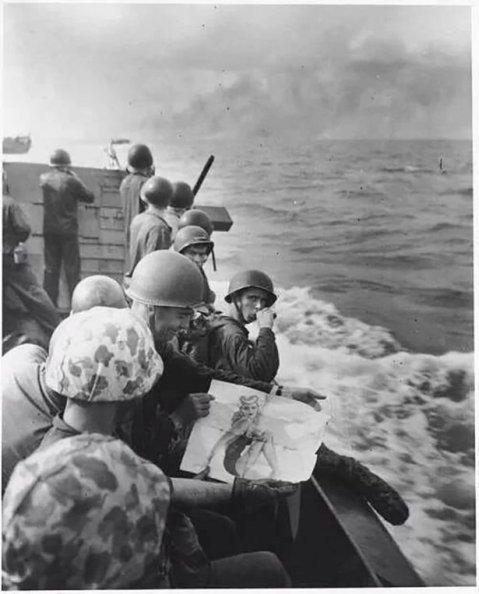 marines just before the tarawa landings