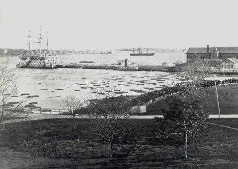 New Hampshire as apprentice ship at Newport