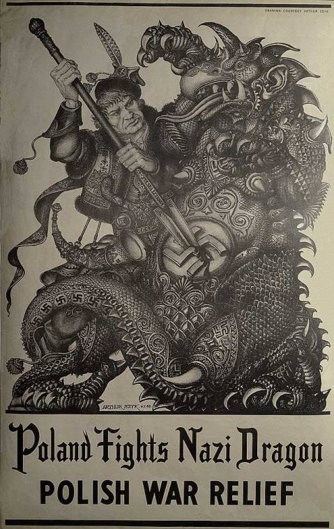 Poland Fights Nazi Dragon - Polish War Relief, 1943-- Library of Congress