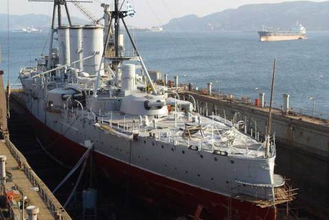 Averof is her latest dry dock