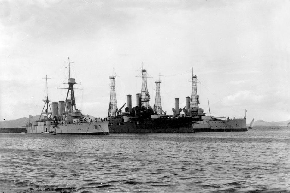 Averoff with RHSKilkis (ex-USS Mississippi) and RHS Lemnos (ex-USS Idaho) pre-WWII