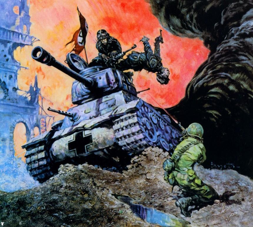 Blazing Combat 4 cover by Frank Frazetta
