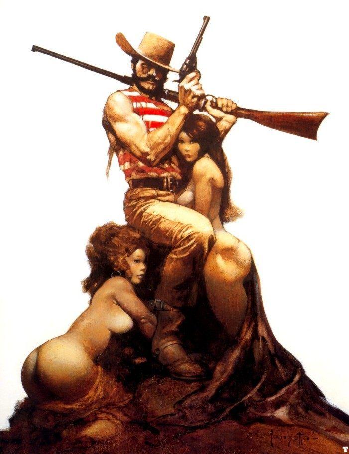 Flash for Freedom cover art by Frank Frazetta.