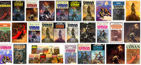 Conan covers by Frank Frazetta