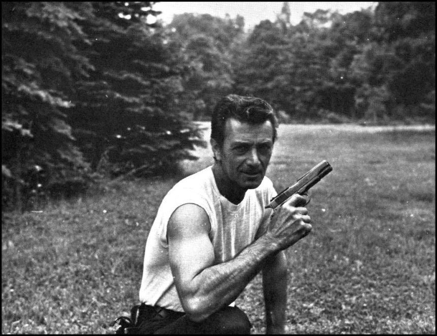 The artist, complete with his 1911