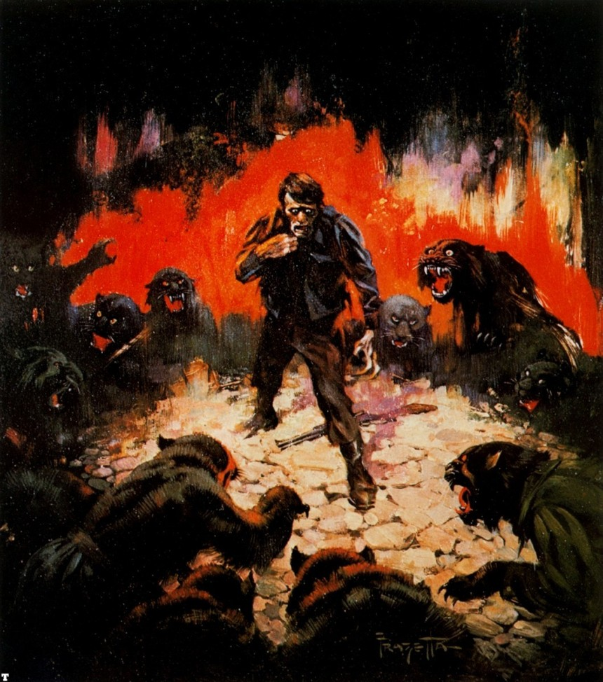 Circle of Terror by Frank Frazetta