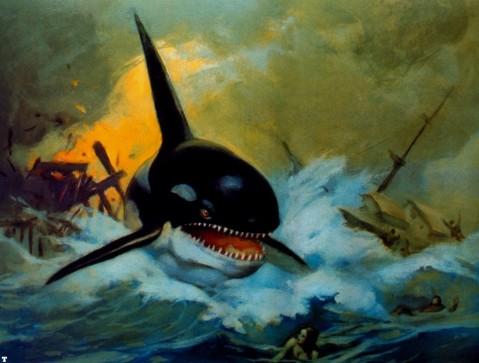 Cover art by Frank Frazetta for Orca the Killer Whale novel
