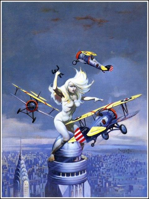 Frazetta art used on Eerie#81-1977 2